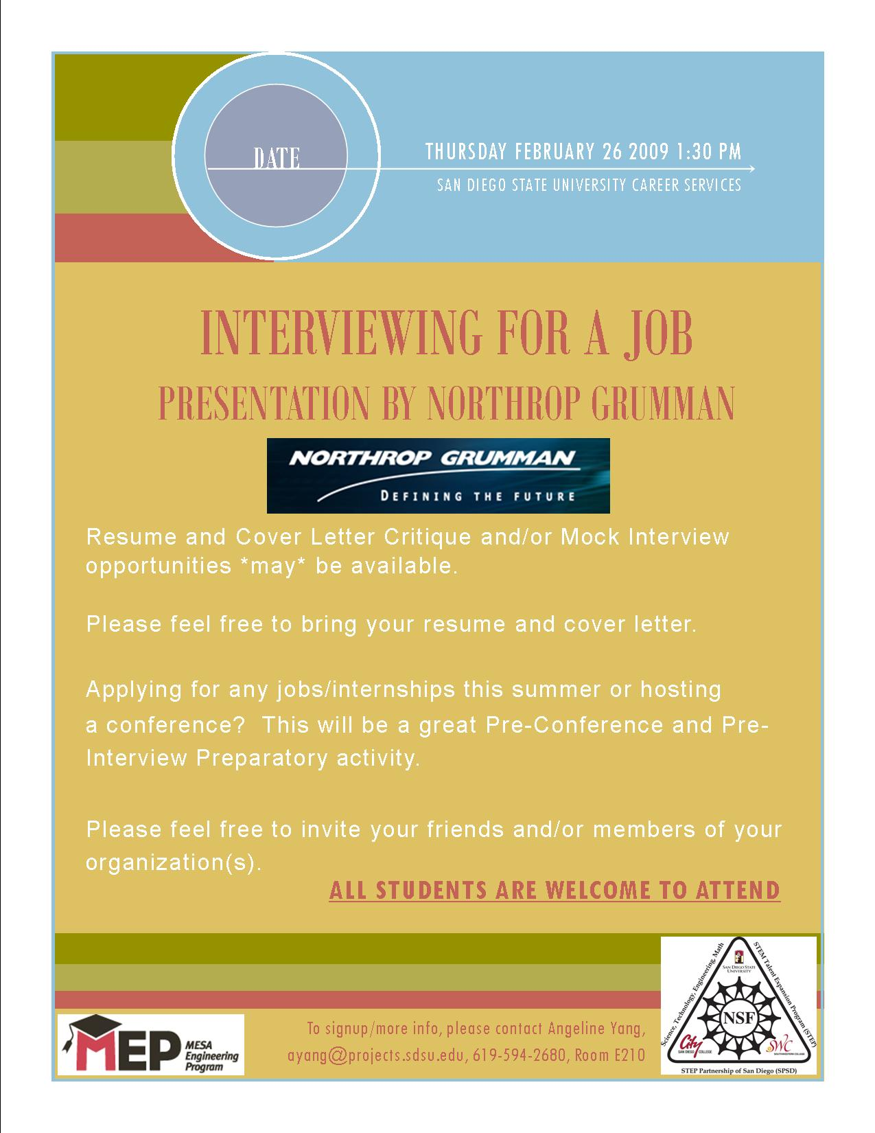 Interviewing For A Job – San Diego MESA Alliance