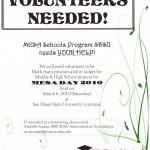 2010 MESA Days volunteers needed flyer