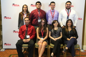 SDSU MESA students with representatives from event sponsor SDG&E.